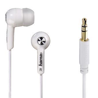 Écouteurs stéréo intra-auriculaires Hama «Basic4Music», blanc