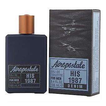 His 1987 Denim by Aeropostale for Men 3.4oz Eau De Toilette Spray