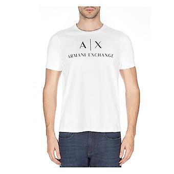Armani Exchange A x Logo Mens T Shirt Vit
