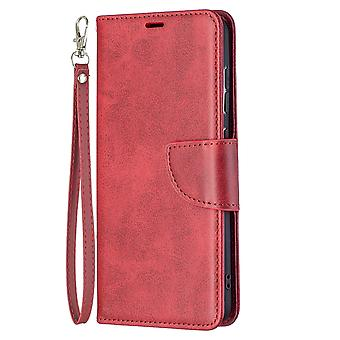 Case Samsung Galaxy S21 Fe Leather Cover Folio Wallet Red