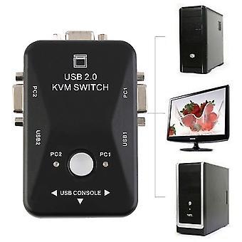 2 porte Usb 2.0 Vga/svga Kvm Switch Box per la condivisione del mouse da tastiera del monitor