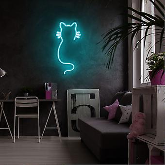 Katt - Blå Blå Vägglampa