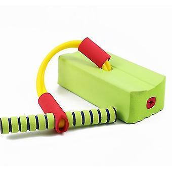 Schaumstoff Pogo Pullover für Kinder Spaß und sichere Springstock Pogo Stick (grün)