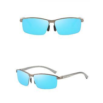 Nya snygga aluminium magnesium halvram mäns utomhus cykling polariserade solglasögon