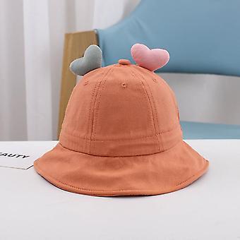 1-3 jaar oude schattige liefde jongens en meisjes emmer hoed baby hoed kinderen baby zonnehoed