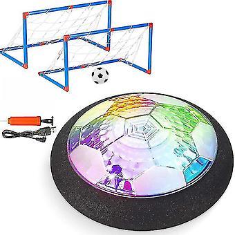 Air Power Plávajúce futbalové hračky Kit Futbalový disk Vznášajúci sa futbalový zápas Ľahká hračka Blikajúce loptové hračky