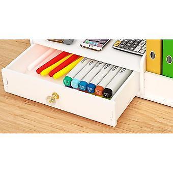 مكتب منظم، بلاستيك القلم حامل مربع التخزين سطح المكتب للطالب (حجم 1)