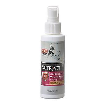 Nutri-Vet Antimikrobinen haavasuihke koirille - 4 oz