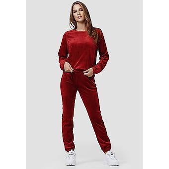 Womens Nicki Tracksuit Soft Velour Set Stretch Pants Sweater Sport Suit Cozy