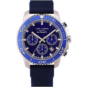 LLarsen (Lars Larsen Blue Silicone) 134SDDS Men's Watch