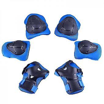 היאבקות ברפידות ברך ילדים ציוד מגן להגדיר רפידות הברך לילדים כחול