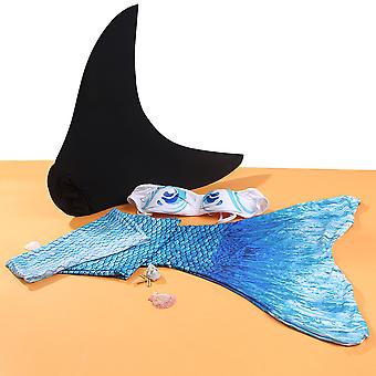 New Summer Colorful Mermaid Tail For Kids With Monofin For Swimming With Bra