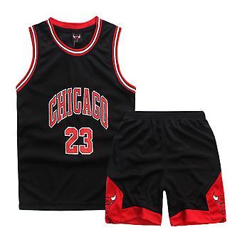 Chicago Bulls #23 Michael Jordan Trikot Nr.23/Kinder Basketball Uniform Set Kinder/schwarz