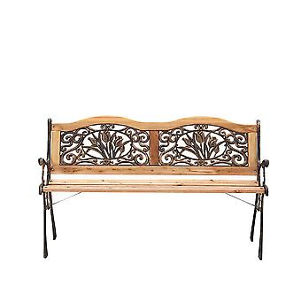 Retro Park Bench Ivy Crossweave Design Garden Bench Porch Chair