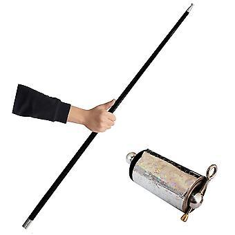 Portable Professional Magic Wand Telescopic Props Metal Magic Pocket