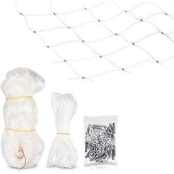 Cat Security Net - Transparent Protection Net For Balcony - Anti-leak File For Window And Terrace - Without Drilling (3 * 6m)