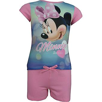 Ragazze Disney Minnie Mouse 2 Piece Set pantaloncini e t-shirt manica corta