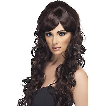 Starlet wig curly brown pop star long hair wig