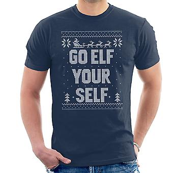 Go Elf Yourself Christmas Knit Pattern Men's T-Shirt