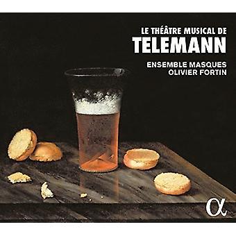 Telemann / máscaras / Fortin - Telemann: importação EUA Le Teatro Musical De Telemann [CD]