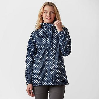 New Peter Storm Women's Patterned Packable Jacket Navy