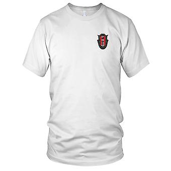 US Army - 11th Special Forces Group Crest OD Green Red 11 Embroidered Patch - Mens T Shirt