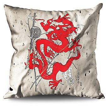 Fantasy Dragon Mystic Linen Cushion 30cm x 30cm | Wellcoda