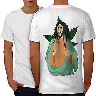 Marley Weed God Men WhiteT-shirt Back | Wellcoda