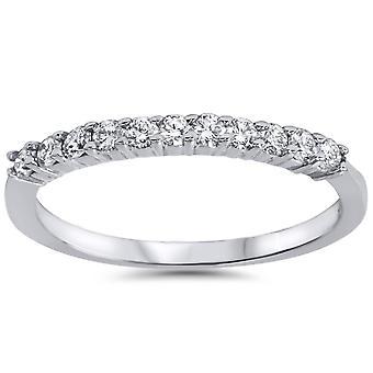 1 / 4ct diamant vielsesring 14K hvidguld