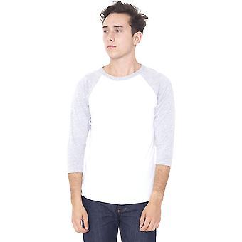 American Apparel Mens trois-quarts de polyester/coton manches Raglan T-Shirt
