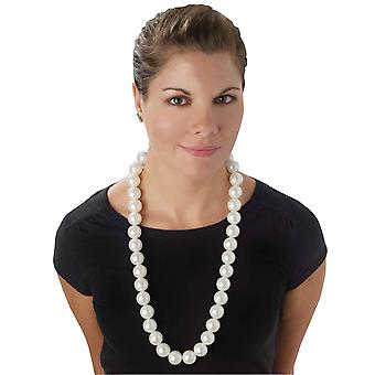 Marilyn Monroe 1950s Flapper 1920s 40s 60s Jumbo Pearls Womens Costume Necklace