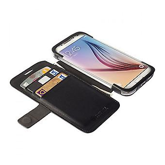 Krusell BookCover Bag Etui Malmö Stand for Galaxy S6 S6 Edge Schwarz0