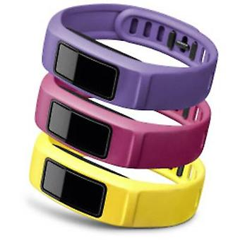 Correia de pulso de substituição vivofit Garmin 2 Tamanho (XS - XXL) = S amarelo, rosa, violeta