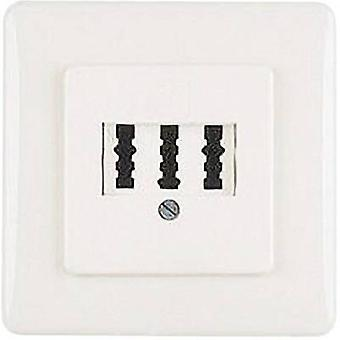 Hama NFN-Kupplung Phone socket Flush mount White