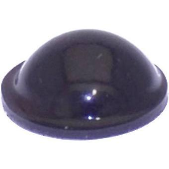 La TOOLCRAFT PD2095SW piede nero autoadesivo, circolare (Ø x H) 9,5 x 3,8 mm 1/PC