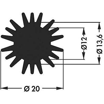 Fischer Elektronik SK 585 15 SA LED disipador de calor 6,1 K/W (x H) 20 mm x 15 mm
