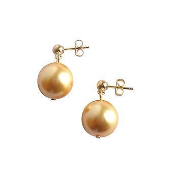 Gemshine - Damen - Ohrringe - Perlen - Tahiti - Gold - Vergoldet - 12 mm