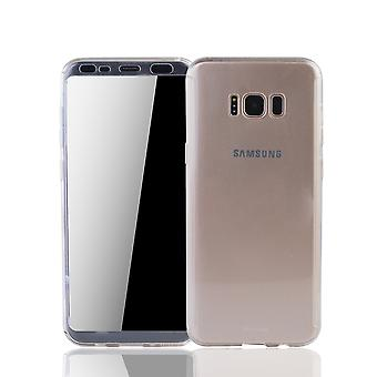 Samsung Galaxy S8 móvel habitação Schutzcase capa completa 360 exibição proteção da folha Klar Matt