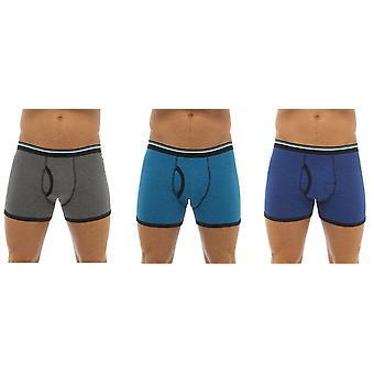 Tom Franks Mens algodón boxeador estiramiento tronco corto (Pack de 3)