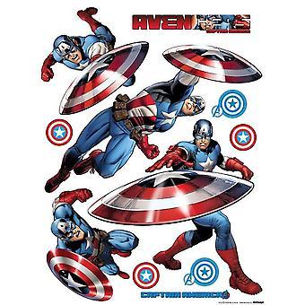 Captain America adhesive decoration 65x85cm