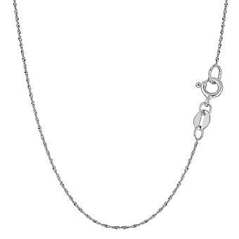 10 k białego złota Singapur naszyjnik łańcuch, 0,8 mm