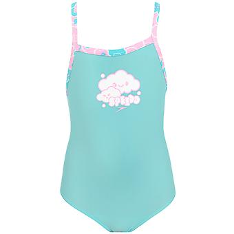 Speedo Girls Cosmic Cloud Essential Swimming Swim One Piece Swimsuit Costume
