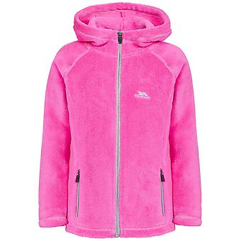 Trespass Girls Lysle Knitted Polyester Full Zip Hooded Fleece