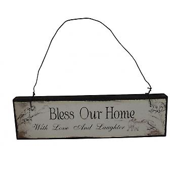 Heaven Sends Bless our Home Decorative Plaque