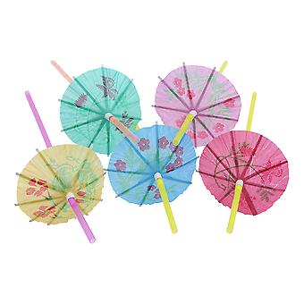 TRIXES 100PCS Cocktail paraply strån Party Pack Tripical Beach-Look