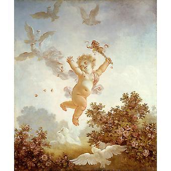 The Jester, Jean-Honore Fragonard, 60x50cm
