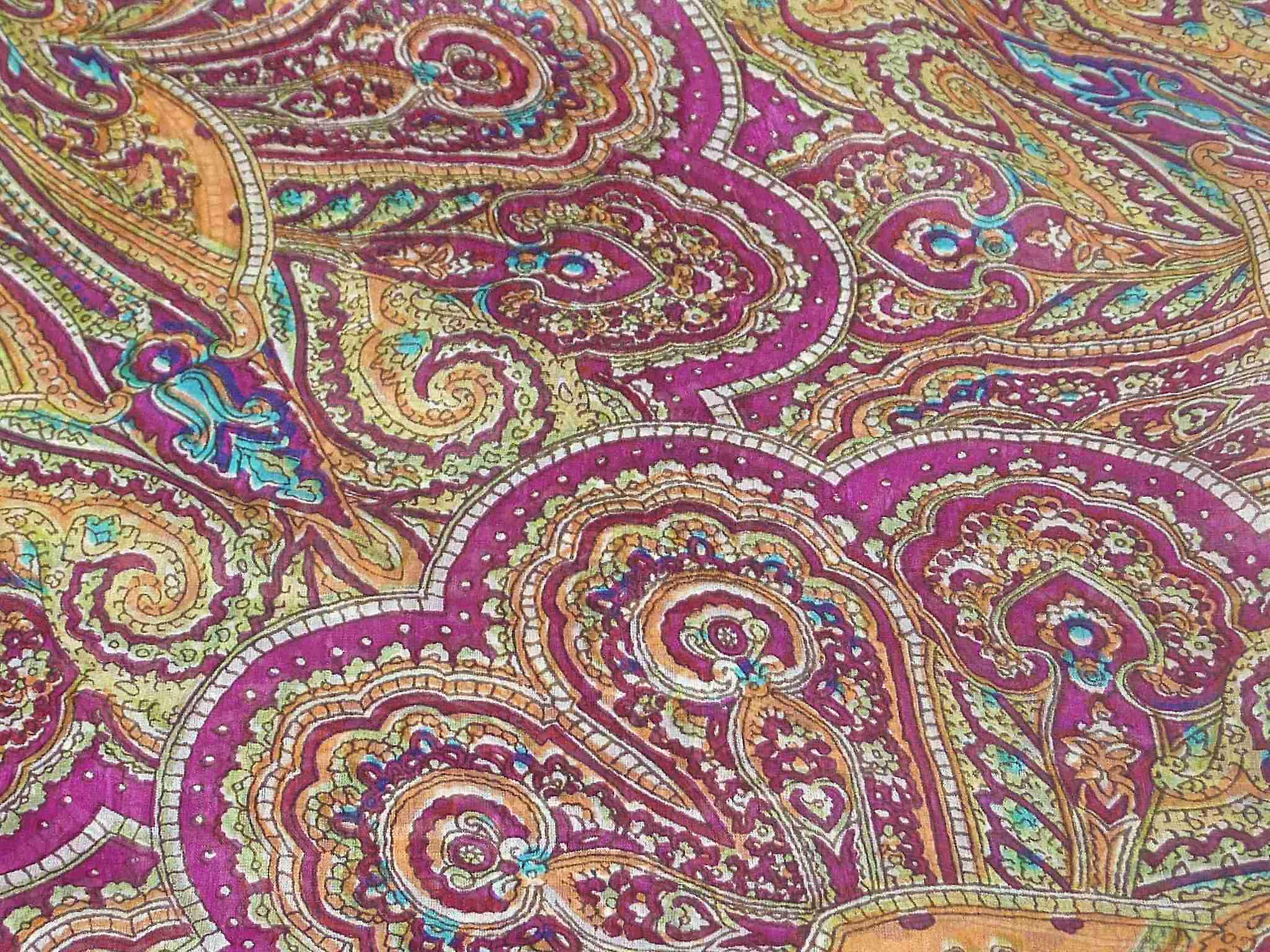 Mulberry Silk Traditional Square Scarf Shimla Rose by Pashmina & Silk