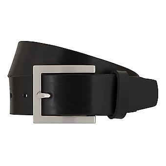SAKLANI & FRIESE belts men's belts leather belt black 7676