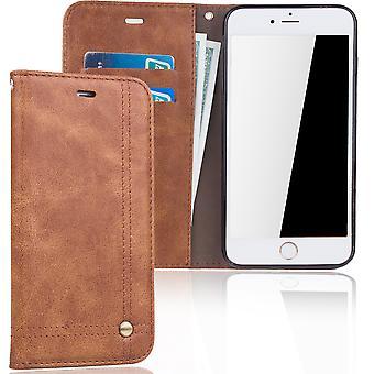 Cell phone cover asia Applen iPhone 7 plus kattaa lompakko asiassa Brown