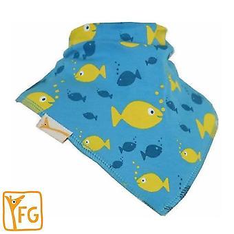 Blaue & gelbe Fische Bandana Lätzchen